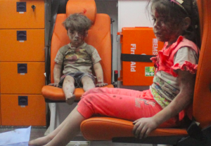 Omran Daqneesh and sister