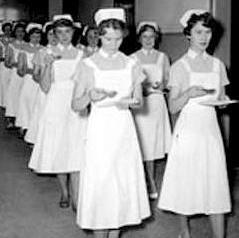Student nurses in 1950s