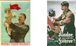 Stalin & Hitler propaganda posters